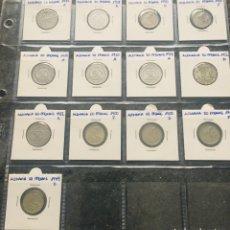 Monedas antiguas de Europa: ALEMANIA LOTE DE 13 MONEDAS DE 50 PFENNIG DE DIFERENTES FECHAS. Lote 201489086