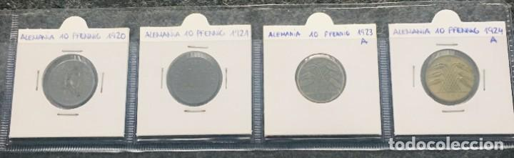 ALEMANIA LOTE DE 4 MONEDAS DE 10 PFENNIG DE DIFERENTES FECHAS (Numismática - Extranjeras - Europa)