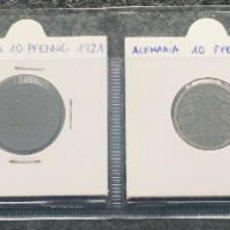 Monedas antiguas de Europa: ALEMANIA LOTE DE 4 MONEDAS DE 10 PFENNIG DE DIFERENTES FECHAS . Lote 201489713
