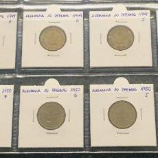 Monedas antiguas de Europa: ALEMANIA LOTE DE 8 MONEDAS DE 10 PFENNIG DE DIFERENTES FECHAS . Lote 201490105