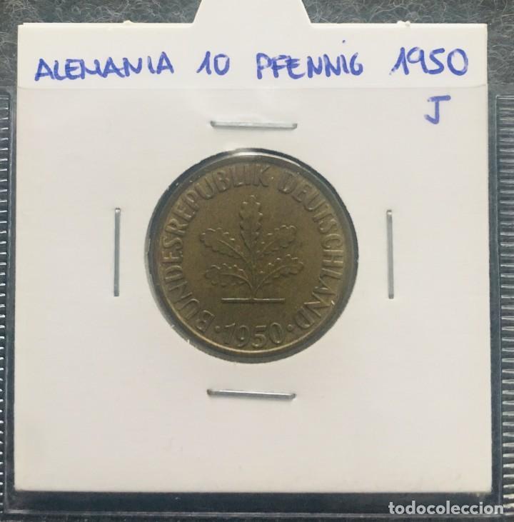 Monedas antiguas de Europa: ALEMANIA LOTE DE 8 MONEDAS DE 10 PFENNIG DE DIFERENTES FECHAS - Foto 4 - 201490105