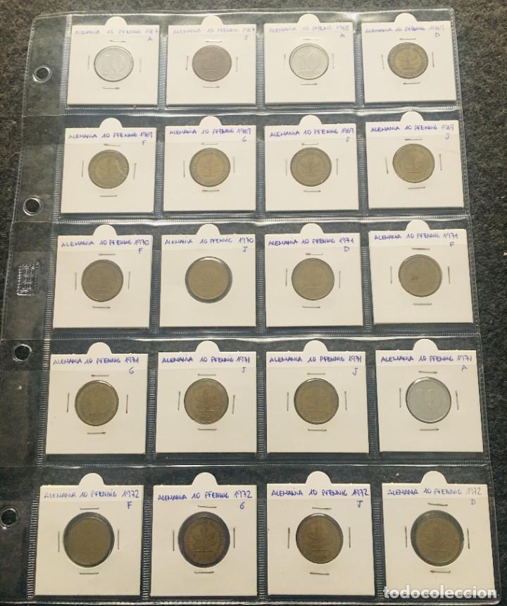 ALEMANIA LOTE DE 20 MONEDAS DE 10 PFENNIG DE DIFERENTES FECHAS (Numismática - Extranjeras - Europa)