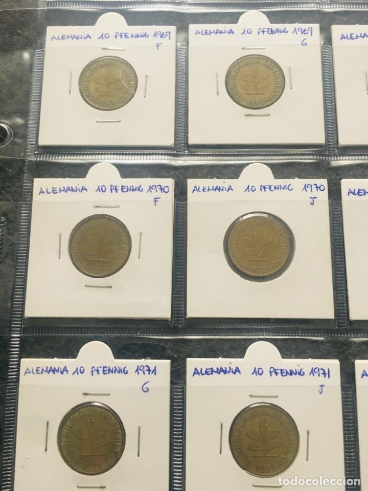 Monedas antiguas de Europa: ALEMANIA LOTE DE 20 MONEDAS DE 10 PFENNIG DE DIFERENTES FECHAS - Foto 2 - 201490280