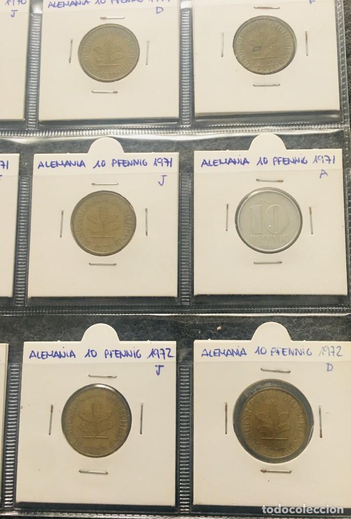 Monedas antiguas de Europa: ALEMANIA LOTE DE 20 MONEDAS DE 10 PFENNIG DE DIFERENTES FECHAS - Foto 3 - 201490280