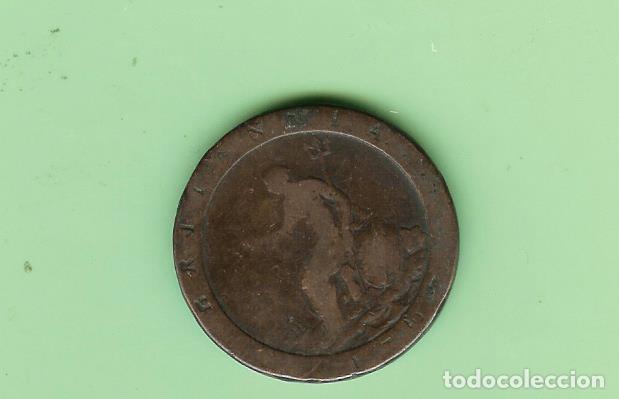 Monedas antiguas de Europa: INGLATERRA. PENNY 1797. COBRE JORGE III - Foto 2 - 201536940