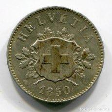 Monedas antiguas de Europa: SUIZA 10 RAPPEN 1850 - PRECIOSA - BRILLO ORIGINAL. Lote 201759020