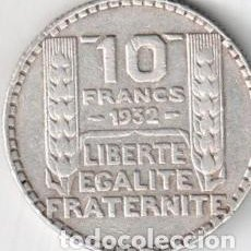 Monedas antiguas de Europa: PLATA PESO 10 GRAMOS -FRANCIA MONEDA 10 FRANCOS *TIPO TURIN* AÑO 1932 KM#878 (3ª REPUBLICA). Lote 292392623