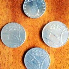 Monedas antiguas de Europa: 5 Y 10 LIRAS ITALIA. 1.951, 53 Y 73 . 4 MONEDAS.. Lote 202435982