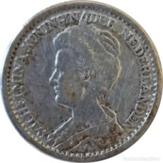 Monedas antiguas de Europa: PAÍSES BAJOS. 25 CENTAVOS DE 1916 (REINA GUILLERMINA). (063).. Lote 202571581