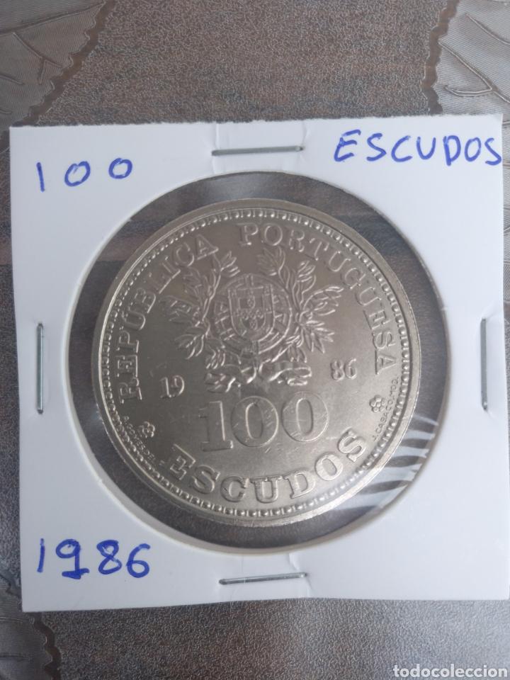 Monedas antiguas de Europa: 100 ESCUDOS REPUBLICA PORTUGUESA 1986 - Foto 2 - 203442056
