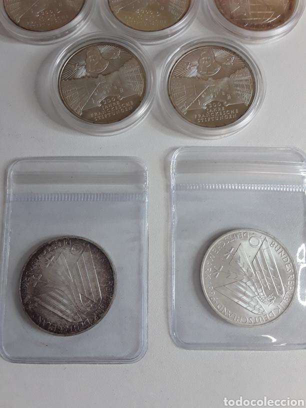 Monedas antiguas de Europa: Lote 4- 7 monedas de plata de 10 Marcos - Foto 2 - 203442838