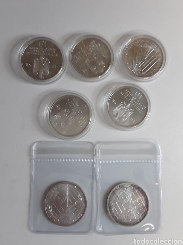 Monedas antiguas de Europa: Lote 4- 7 monedas de plata de 10 Marcos - Foto 4 - 203442838