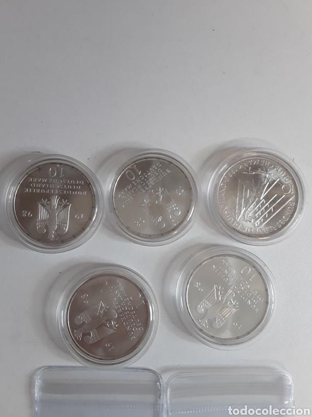 Monedas antiguas de Europa: Lote 4- 7 monedas de plata de 10 Marcos - Foto 5 - 203442838