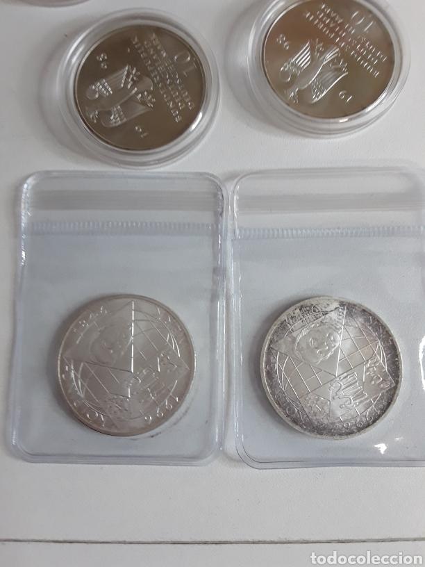 Monedas antiguas de Europa: Lote 4- 7 monedas de plata de 10 Marcos - Foto 6 - 203442838
