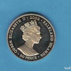 Monedas antiguas de Europa: ISLAS FALKLAND. 50 PENCE 2002. GOLDEN JUBILEE PORTRAIT CUPRONIQUEL. Lote 204239463
