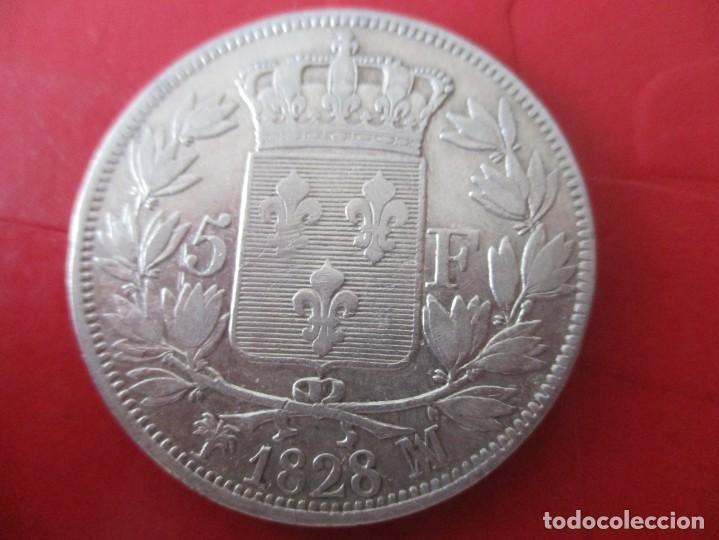 Monedas antiguas de Europa: Francia. 5 francos de Carlos X. 1828. #SG - Foto 2 - 204501130