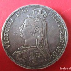 Monedas antiguas de Europa: GRAN BRETAÑA. 1 CORONA DE PLATA. REINA VICTORIA 1888. #SG. Lote 204503363