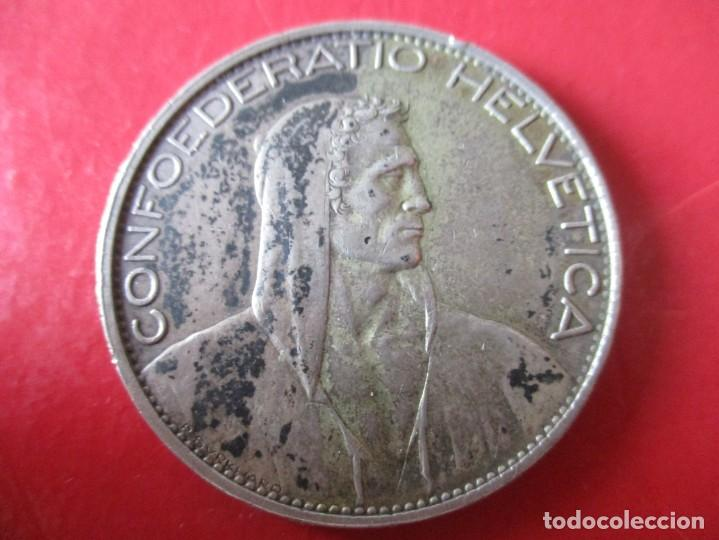 SUIZA. MONEDA DE 5 FRANCOS DE PLATA 1925. #SG (Numismática - Extranjeras - Europa)