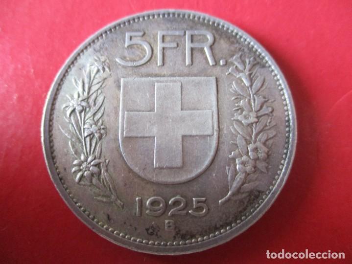 Monedas antiguas de Europa: Suiza. moneda de 5 francos de plata 1925. #SG - Foto 2 - 204503850