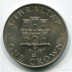 Monedas antiguas de Europa: GIBRALTAR - 1 CORONA 1967. Lote 205148013