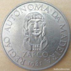Monedas antiguas de Europa: PORTUGAL, 25 ESCUDOS 1981 - AUTONOMÍA DE MADEIRA, ZARCO../ NUEVA, SIN USAR.. Lote 205194816