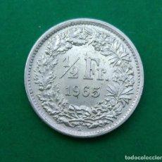 Monedas antiguas de Europa: SUIZA 1/2 MEDIO FRANCO 1965 , FRANC, MONEDA PLATA ¡¡¡ LIQUIDACION COLECCION!!!. Lote 205294192