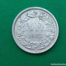 Monedas antiguas de Europa: SUIZA 1/2 MEDIO FRANCO 1967 , FRANC, MONEDA PLATA ¡¡¡ LIQUIDACION COLECCION!!!. Lote 205295420