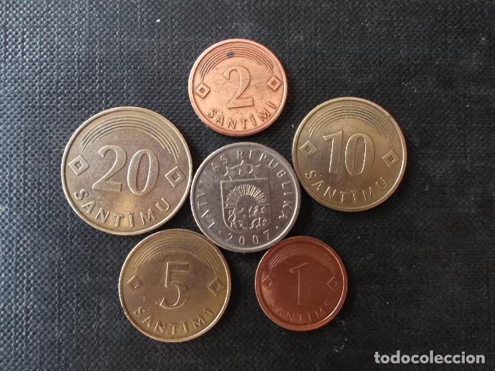 Monedas antiguas de Europa: conjunto de monedas de Letonia - Foto 2 - 205394156