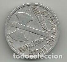 MONEDA DE FRANCIA 1 FRANCO 1944 (Numismática - Extranjeras - Europa)