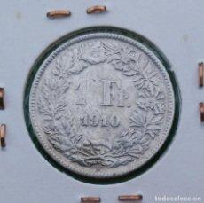 Monedas antiguas de Europa: SUIZA 1 FRANCO 1910 B , FRANC, MONEDA PLATA ¡¡¡ LIQUIDACION COLECCION!!!. Lote 205523230