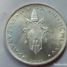 Monedas antiguas de Europa: MONEDA PLATA D 500 LIRAS CIUDAD DEL VATICANO 1975, AÑO XIII, PAPA PABLO VI, PESA 11 GRS SOLO 162.000. Lote 205806291
