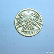 Monedas antiguas de Europa: ALEMANIA 5 RENTENPFENNIG 1924 F (1331). Lote 205867053