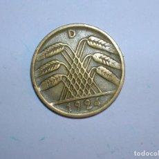 Monedas antiguas de Europa: ALEMANIA 5 REICHSPFENNIG 1924 D (1335). Lote 205867208