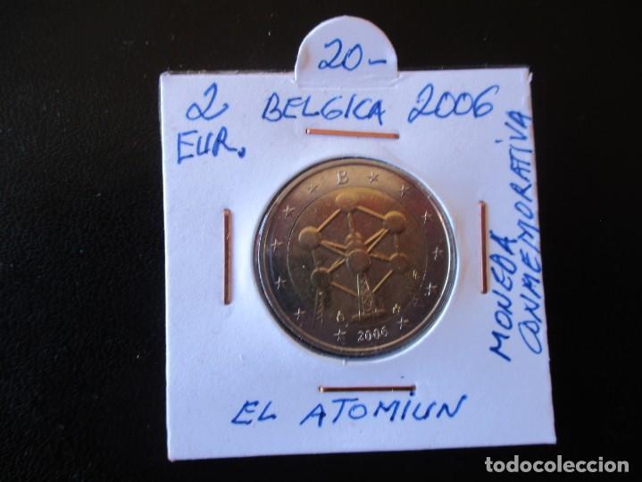 2 EUROS. 2006. BELGICA. EL ATOMIUN. MONEDA CONMEMORATIVA. (Numismática - Extranjeras - Europa)