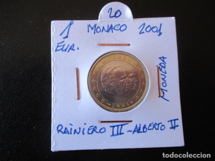 1 EURO. 2001. MONACO. RAINIERO III , ALBERTO II. MONEDA CONMEMORATIVA. (Numismática - Extranjeras - Europa)