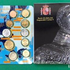 Monedas antiguas de Europa: ESTUCHE CON 10 MONEDITAS MEDALLA Y DESPLEGABLE. Lote 206430617