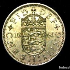 Monedas antiguas de Europa: CHELÍN 1 SHILLING 1961 VARIANTE INGLATERRA REINO UNIDO (A1). Lote 206555273