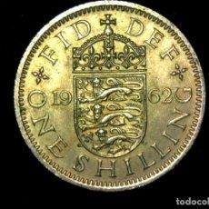 Monedas antiguas de Europa: CHELÍN 1 SHILLING 1962 VARIANTE INGLATERRA REINO UNIDO (A2). Lote 206555410