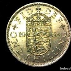 Monedas antiguas de Europa: CHELÍN 1 SHILLING 1963 VARIANTE INGLATERRA REINO UNIDO (A1). Lote 206555540