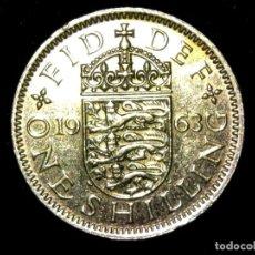 Monedas antiguas de Europa: CHELÍN 1 SHILLING 1963 VARIANTE INGLATERRA REINO UNIDO (A2). Lote 206555643
