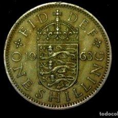 Monedas antiguas de Europa: CHELÍN 1 SHILLING 1963 VARIANTE INGLATERRA REINO UNIDO (A3). Lote 206555768