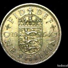 Monedas antiguas de Europa: CHELÍN 1 SHILLING 1964 VARIANTE INGLATERRA REINO UNIDO (A1). Lote 206555873