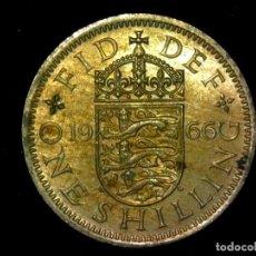 Monedas antiguas de Europa: CHELÍN 1 SHILLING 1966 VARIANTE INGLATERRA REINO UNIDO (A1). Lote 206556010