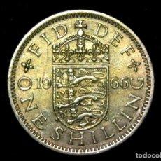 Monedas antiguas de Europa: CHELÍN 1 SHILLING 1966 VARIANTE INGLATERRA REINO UNIDO (A2). Lote 206556167