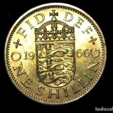 Monedas antiguas de Europa: CHELÍN 1 SHILLING 1966 VARIANTE INGLATERRA REINO UNIDO (A3). Lote 206556445