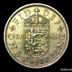Monedas antiguas de Europa: CHELÍN 1 SHILLING 1961 VARIANTE INGLATERRA REINO UNIDO (A2). Lote 206556667