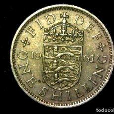 Monedas antiguas de Europa: CHELÍN 1 SHILLING 1961 VARIANTE INGLATERRA REINO UNIDO (A3). Lote 206556817