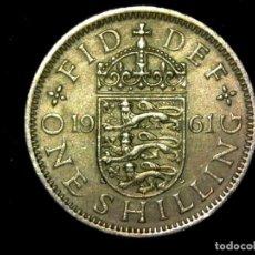 Monedas antiguas de Europa: CHELÍN 1 SHILLING 1961 VARIANTE INGLATERRA REINO UNIDO (A4). Lote 206556915