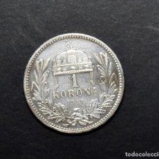 Monedas antiguas de Europa: 1 CORONA DE PLATA DE AUSTRIA DEL AÑO 1915...CORONA LADEADA.SIN CIRCULAR.. Lote 206762475