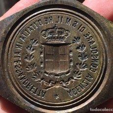 Monedas antiguas de Europa: ¡¡ RARISIMA !! MATRIZ ORIGINAL MEDALLA ITALIA HUMBERTO I O SELLO DE LA EMBAJADA PARA LACRE.. Lote 206948337